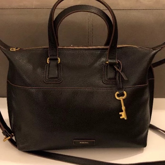 17f7515c0 Fossil Bags | Shb1380001 Julia Leather Satchel Bagblack | Poshmark